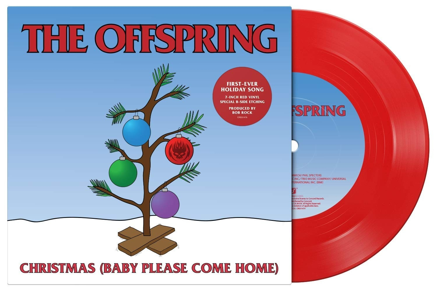 """The Offspring - Christmas (Baby Please Come Home) 7"""""""