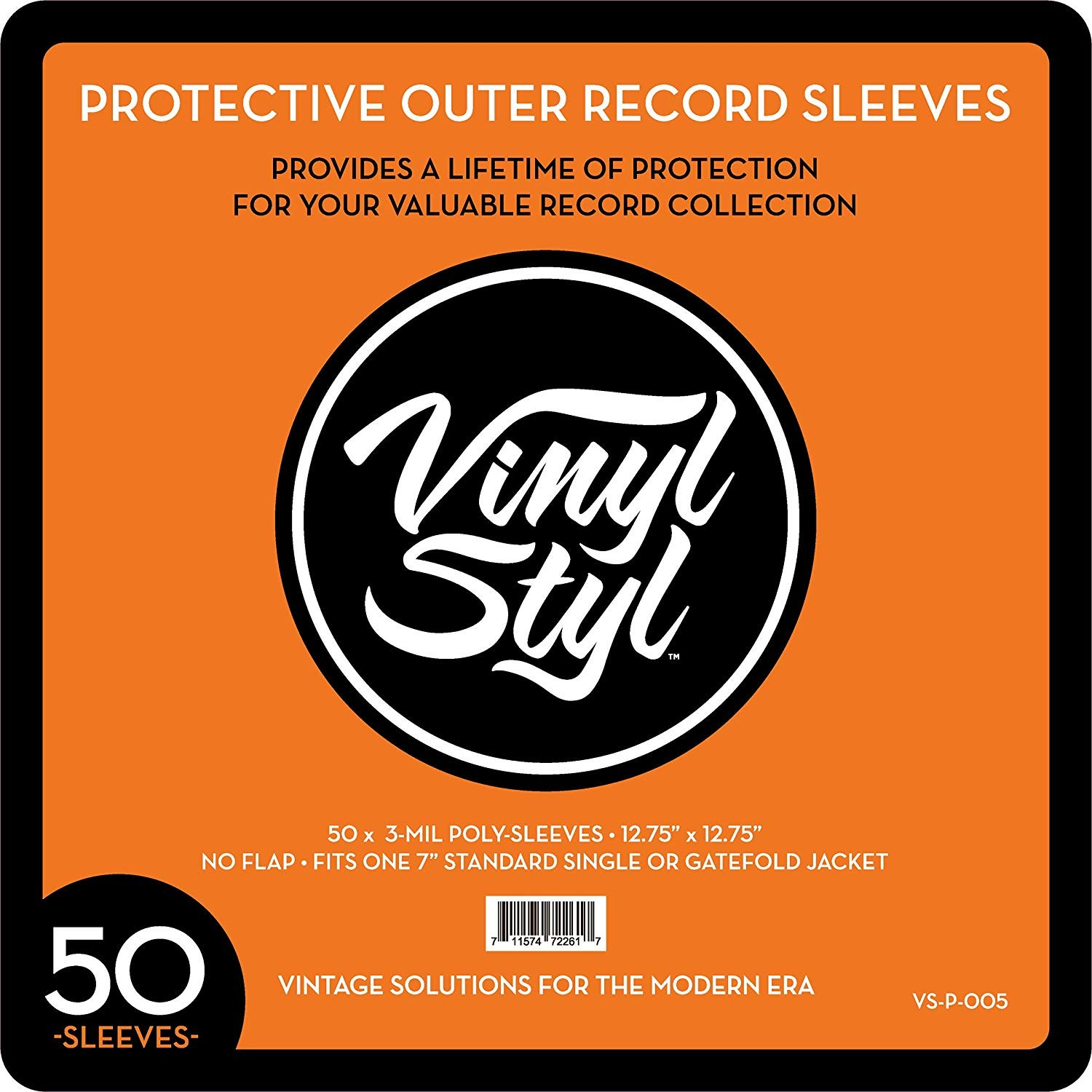 "Vinyl Styl - 12.75"" X 12.75"" 3 Mil Protective Outer Record Sleeve (QTY: 50)"