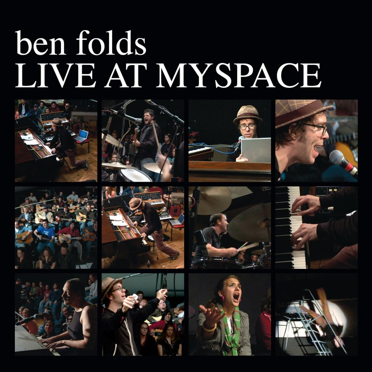 Ben Folds - Live at Myspace (White) 2XLP vinyl