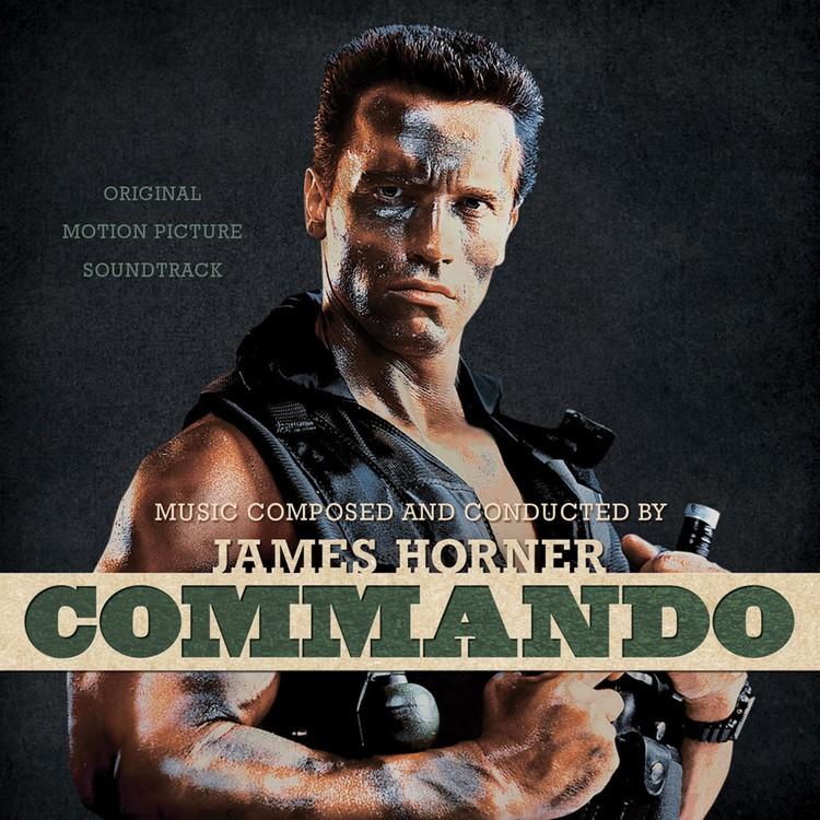 James Horner - Commando: Original Motion Picture Soundtrack (Bone with Black Paint Splatter) 2XLP Vinyl