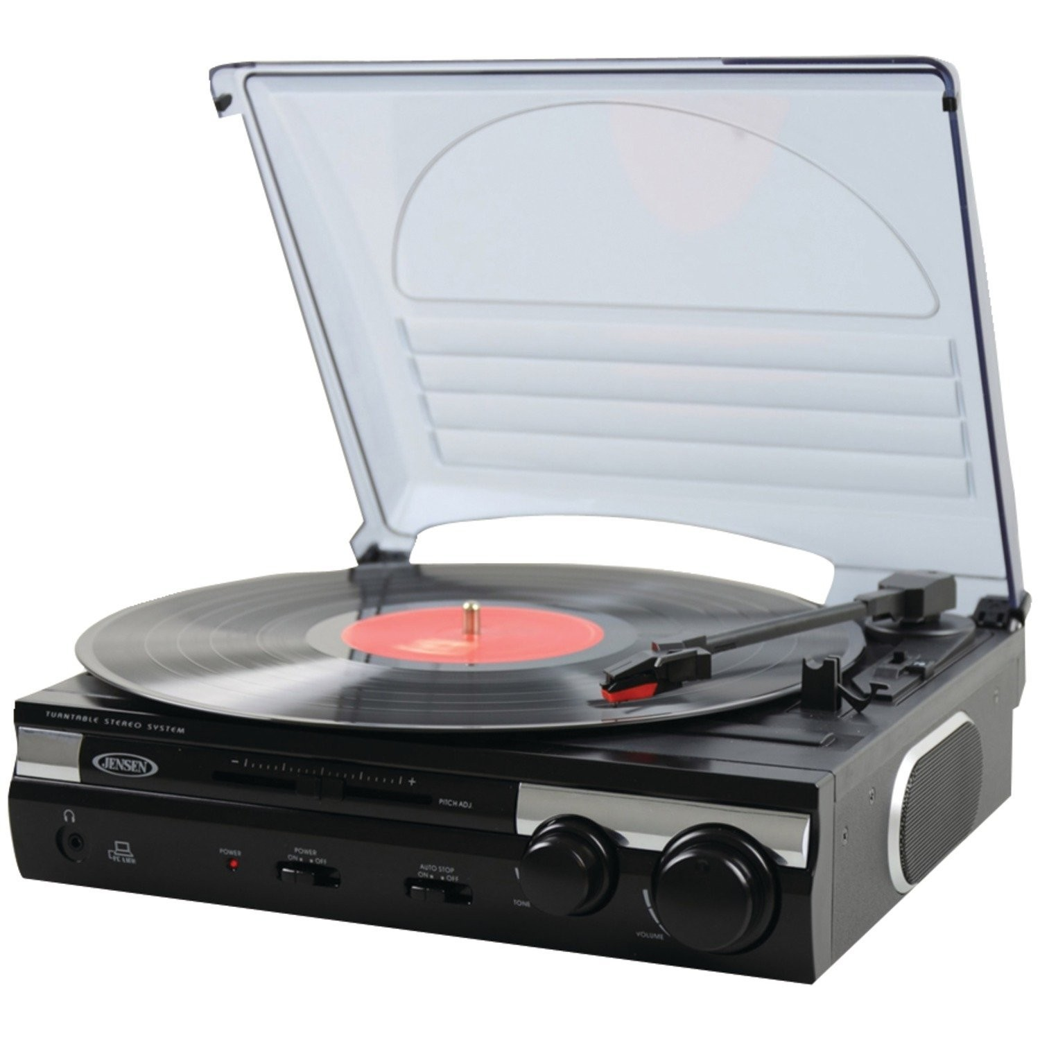 Jensen JTA-230 3-Speed Turntable with Speakers