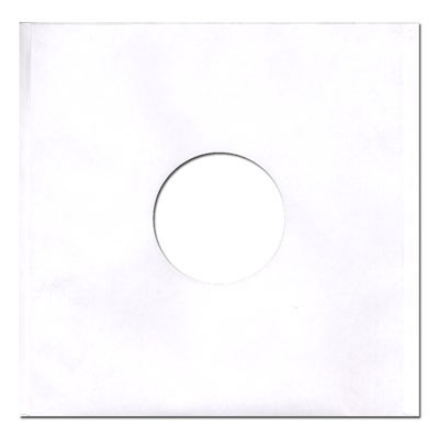 12'' Vinyl Record White Paper Sleeves - Regular Weight