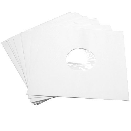 12'' White Paper Sleeve - Polylined
