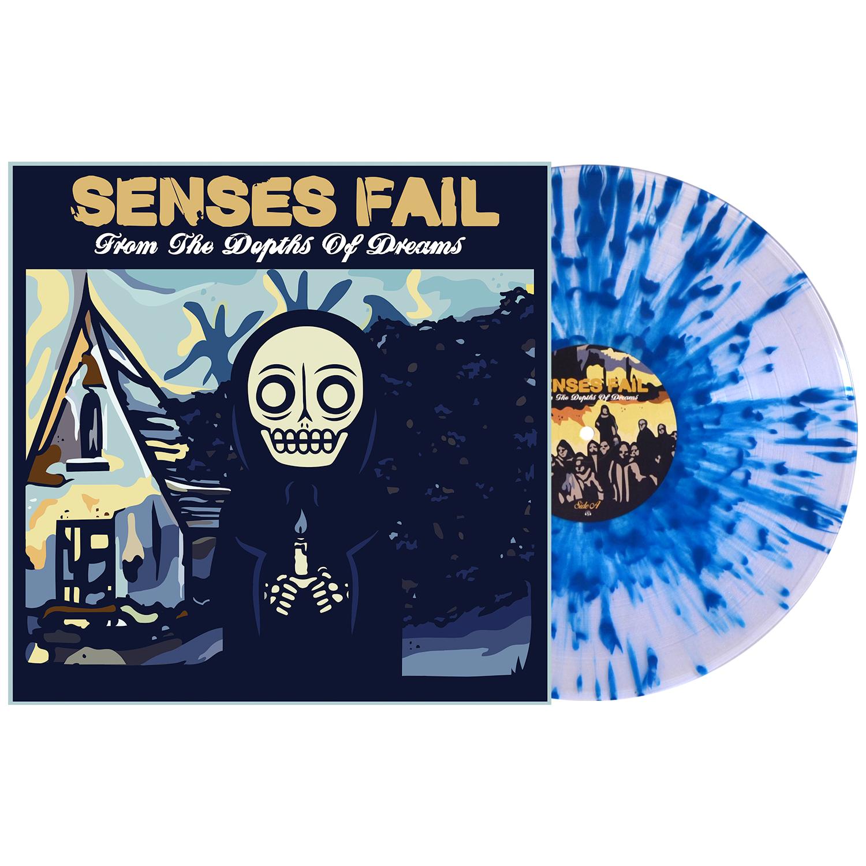 """Senses Fail - From The Depths Of Dreams (Blue Splatter) 12"""" EP vinyl"""