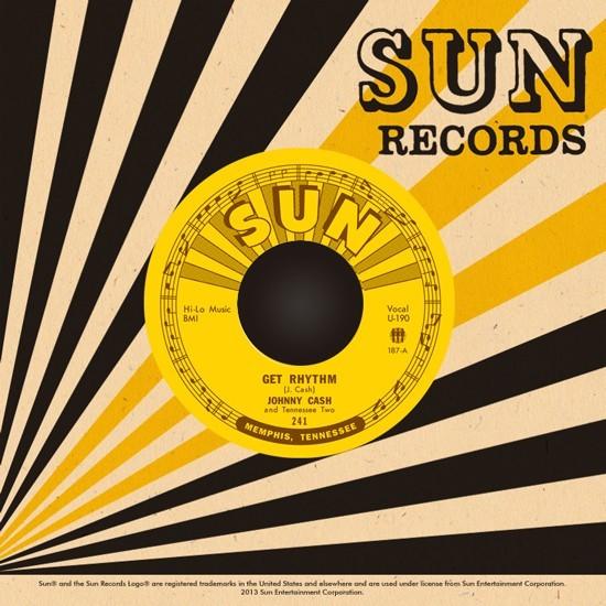 "Johnny Cash - Get Rhythm / I Walk The Line 7"""